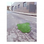Groundcover, 2011. Installation with found potholes, river sand, AstroTurf. Dimensions variable.