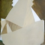 Untitled (shape study #6), 2012. Oil on cedar ply. 26 x 32cm.