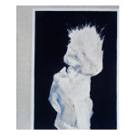 Untitled (Jagger/Asbestos Portrait #1), 2013. Oil on linen on board. 25cm x 30cm.