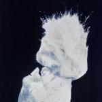 Untitled (Jagger/Asbestos Portrait #1), 2013. Oil on linen on board. 25cm x 30cm.